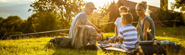 Unterwegs mit dem Picknickrucksack